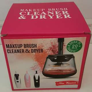 Makeup brush cleaner + dryer (comes with free brush cleanser)