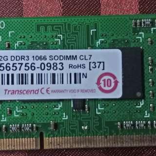 2G DDR3 1066 SODIMM Transcend