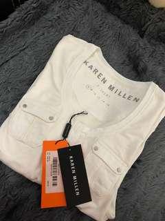 Karen Millen Ivory T-Shirt