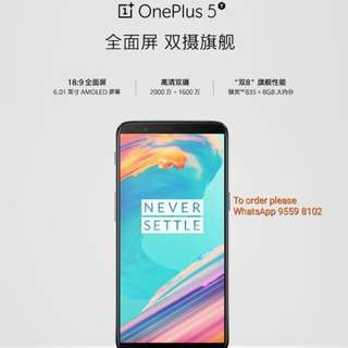 OnePlus 5T, 6+64G Black Global Europe Version. Parallel Import