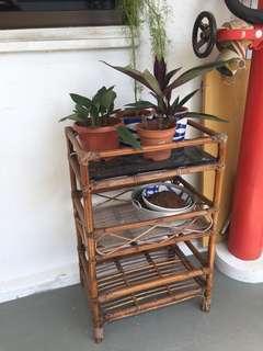 Vintage rattan storage