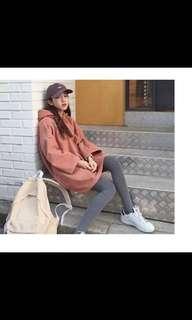 韓國連帽纯色衛衣宽松薄款外套上衣