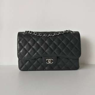 Authentic Chanel Classic Jumbo Shw