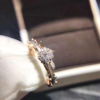 18K Gold Diamond Ring (Retro Palace Style)
