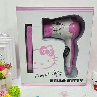 Hello Kitty Hair Dyer and Straightener Set