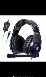 Sades Knight Pro Gaming Headphone With Mic