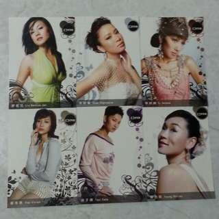 (罕有) TVB 女藝員 Post Card 共 6 張