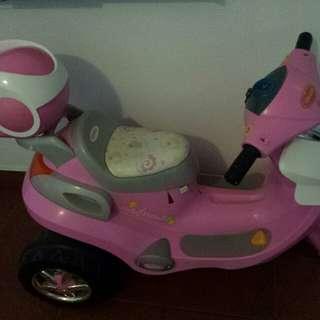 Preloved Pink Motor Bike for Little Biker!
