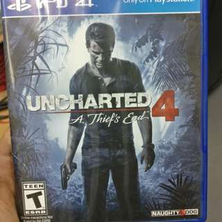 Uncharted 4 used for SALE