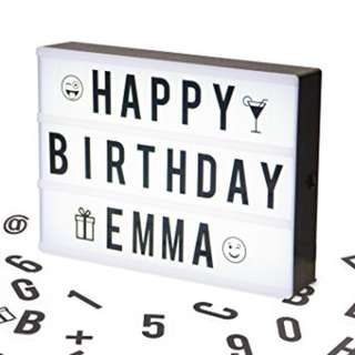 A4 Cinematic Lightbox with letter - Pink, Blue, Green, Black and White