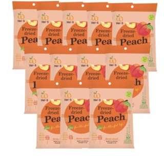 Wel-B Freeze Dried Peach Snacks