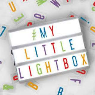 90 Letters in Black / Color for lightbox Brand New