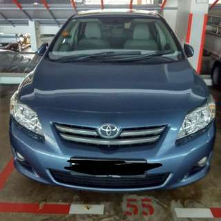 Toyota altis For Rental / lease!