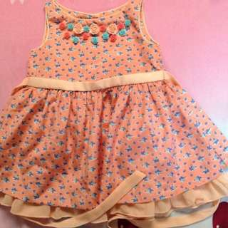 Periwinkle Pink Dress (Flower Design)