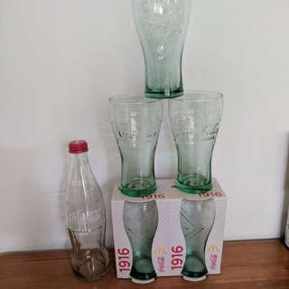 Coca-Cola Collectible Glasses Bottle Dish towel