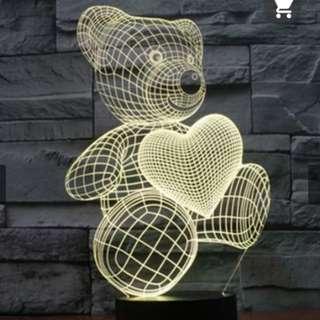 BNIB 3D Cute Bear Electronic Lamp
