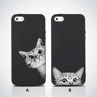 Curiouse Cat Matte Soft iPhone Case