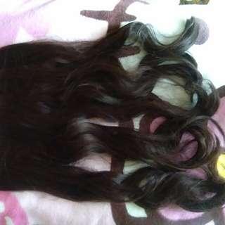 Hair clip 60cm (darkbrown)