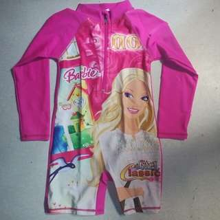 Barbie rashguard for 4yo