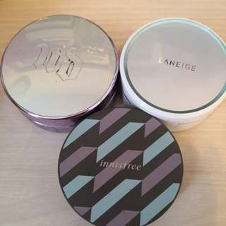 Urban decay, Laneige, Innisfree Cushion Case