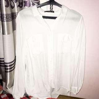 MANGO BASIC WHITE SHIRT