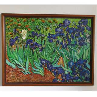 Vincent Van Gogh- Irises ( reproduction, Oil Canvas 84 cm by 66 cm )