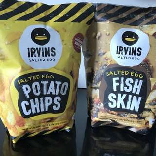 Irvins salted egg (fish skin & potato chips)