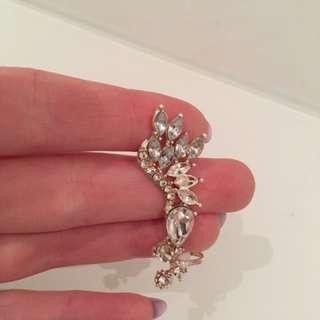 Rhinestone ear cuff earring