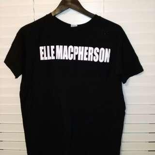 Zara Elle MacPherson black t-shirt, size S