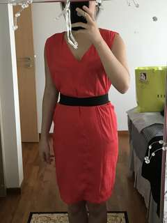 Zara Basic Red Dress