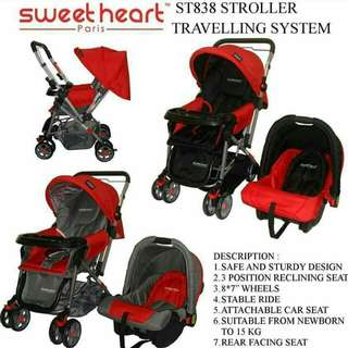 Baby stroller + carseat