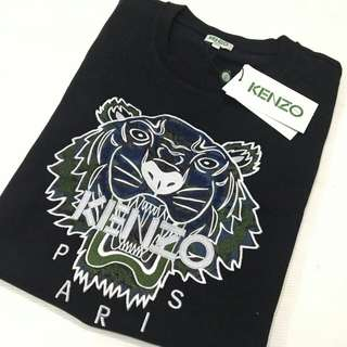Kenzo Tiger Woman T Shirt Black Size L ( tiger bordir)