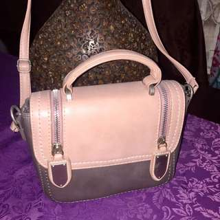 old rose sling bag