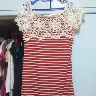 Spandex long blouse/ dress