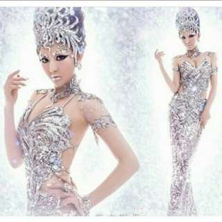 H006 SEQUINED STAGE COSTUME DRESS (pre order)