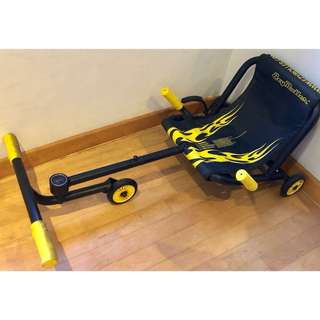 [SOLD] Yellow and Black Ezy Roller Classic Ride On for Kids to Adults