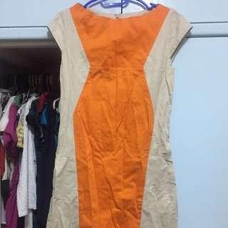 Orange nude officewear