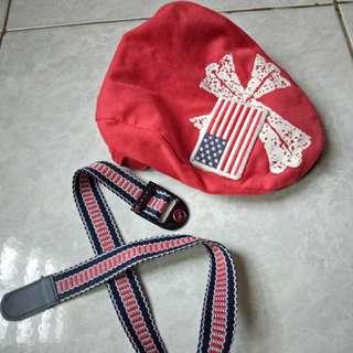 Topi pet anak free belt