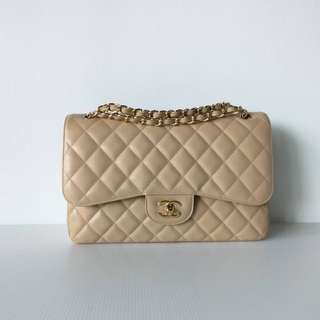 Authentic Chanel Jumbo Flap Bag