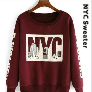 NYC SWEATER MAROON