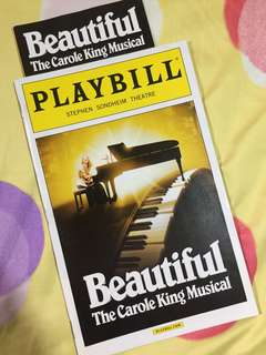 PLAYBILL: Beautiful: The Carole King Musical (Jessie Mueller, 2014)