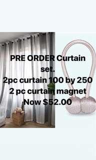 Pre order curtain set