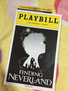 PLAYBILL: Finding Neverland