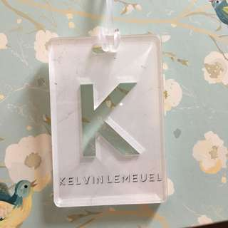 Custom Personalised Luggage Tag - White Marble