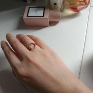 Diamanti Per Tutti 玫瑰金戒指(size 11)