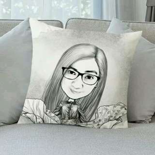 Personalized caricature pillow
