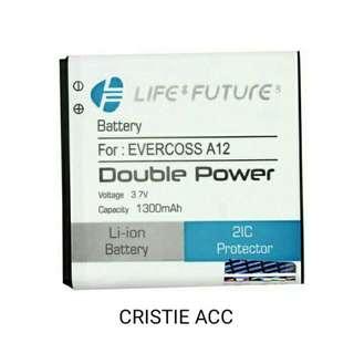 BATTREY BATREI BATRE EVERCOSS A12 DOUBLE POWER 21C TERMURAH
