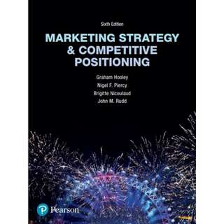 Marketing Strategy and Competitive Positioning, 6th Edition eBook