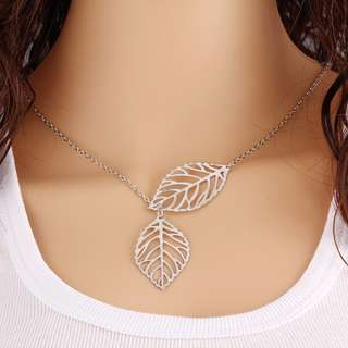 Leaf Clavicle Chain Necklace