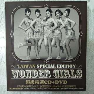 🚚 Wonder girls 超級精選台壓版CD+DVD